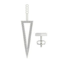 Load image into Gallery viewer, Triangle Genuine Diamond White Gold Earring-E-780-9