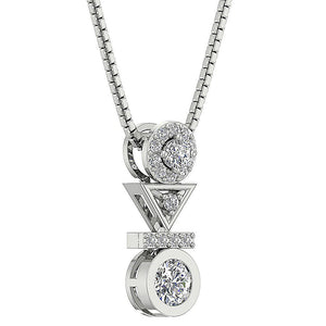Designer Round Diamond Fashion Pendants-DP403