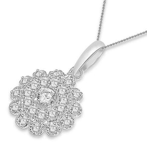 Fashion Pendants SI1 G 0.65 Ct 14k/18k White Yellow Rose Gold Natural Diamond