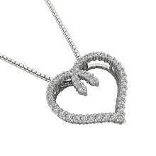 Load image into Gallery viewer, Prong Setting Designer Natural Diamond Heart Pendants-DP392