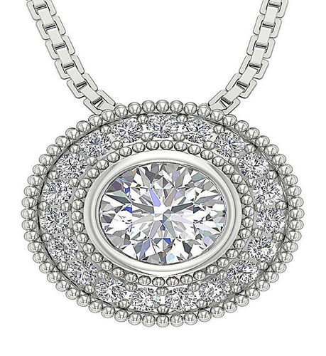 Designer Natural Diamond Pendants-DP315