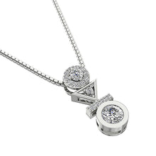 Load image into Gallery viewer, 14k-18k White Gold Diamond Pendants-DP403