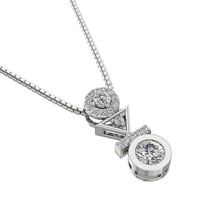 14k-18k White Gold Diamond Pendants-DP403