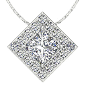 14k-18k White Gold Pendants-DP419