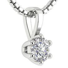 Load image into Gallery viewer, Six Prong Set Genuine Diamond 14k-18k Gold Pendants-DP90-0.25-6
