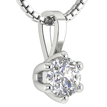 Load image into Gallery viewer, 14k-18k White Gold Natural Diamond Pendants-DP90-0.50-6