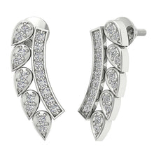 Load image into Gallery viewer, Designer Natural Diamond 14k White Gold Earring-DE207