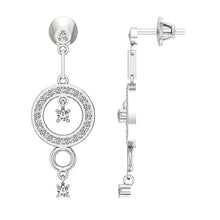 Load image into Gallery viewer, Screw Back Designer Round Earrings-E-734