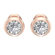 Load image into Gallery viewer, Designer Natural Diamond 14k-18k Rose Gold Earring-DST101-1.00CT