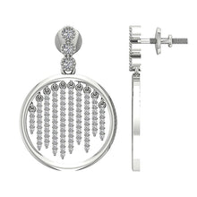 Load image into Gallery viewer, 14k White Gold Designer Round Cut Diamond Chandelier Earring-DE256