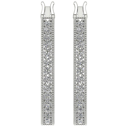 Side View Designer Natural Diamond Earring-DE10