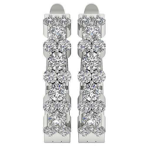 White Gold Earring-DE12
