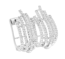 Load image into Gallery viewer, Large Hoops Earrings I1 G 1.00 Ct Natural Diamonds 14k White Yellow Rose Gold