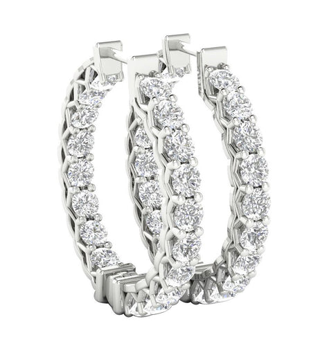 Outside Inside Designer Natural Diamond Earring-DE146
