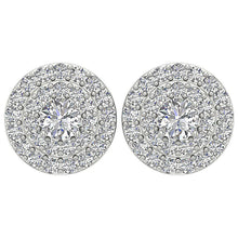 Load image into Gallery viewer, Halo Solitaire Studs Earrings I1 G 1.00 Ct 14k/18k Solid Gold Natural Diamonds