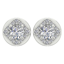 Load image into Gallery viewer, White Gold Designer Natural Diamond Earring-DE170
