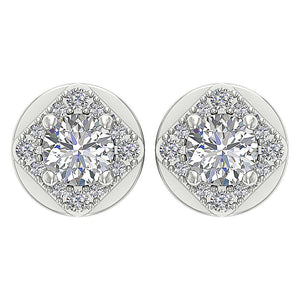 White Gold Designer Natural Diamond Earring-DE170