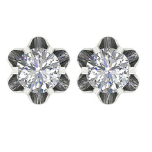 Load image into Gallery viewer, Six Prong Set White Gold-DE191
