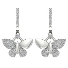 Load image into Gallery viewer, Butterfly Designer Natural Diamond Earrings-DE200