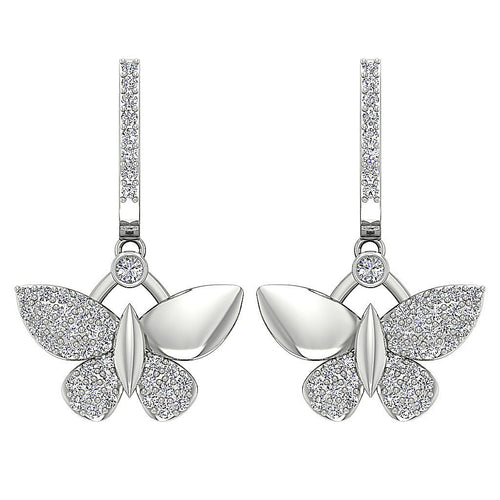 Butterfly Designer Natural Diamond Earrings-DE200