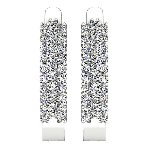 Hoop White Gold Earring-DE204