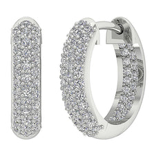 Load image into Gallery viewer, Diamond White Gold Earring-DE227