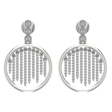 Load image into Gallery viewer, 14k White Gold Earring Designer Natural Round Diamond-DE256