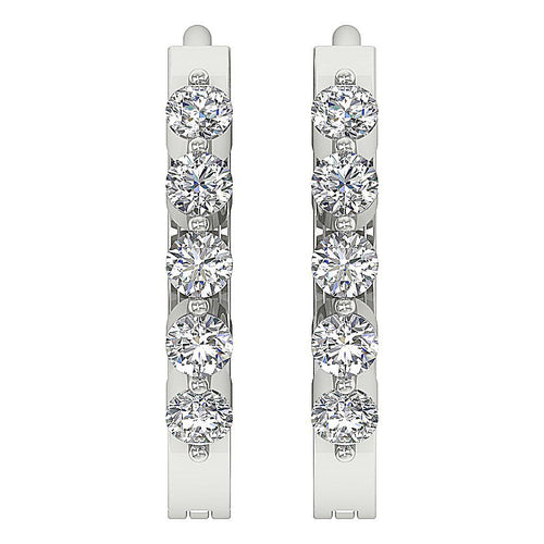 Round Diamonds Earrings-DE63