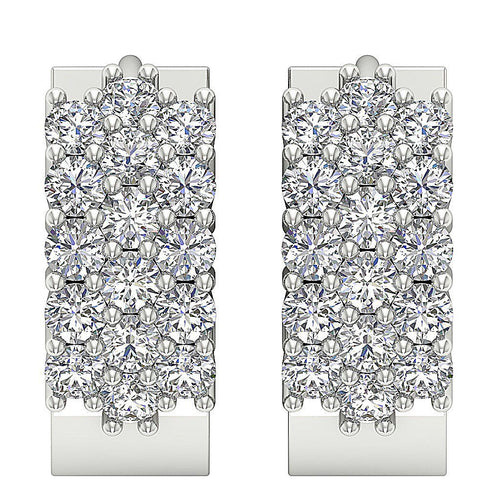 White Gold Earring-DE64