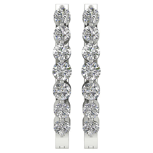 White Gold Diamond Earring-DE81