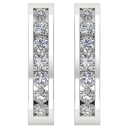 White Gold Designer Natural Diamond Earring-DE8
