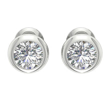 Load image into Gallery viewer, Designer Natural Diamond White Gold Bezel Set Earring-DST101-1.00CT