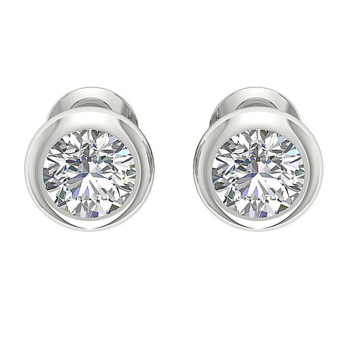 Designer Natural Diamond White Gold Earring-DST101-1.00CT