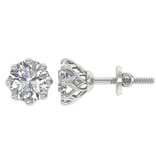 Load image into Gallery viewer, Designer Side View 14k-18k White Gold-DST102
