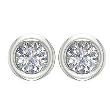 Load image into Gallery viewer, Designer Round Brilliant Ideal Cut Studs Earring-DST45-0.55CT