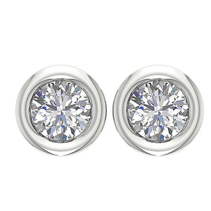 Designer Round Brilliant Ideal Cut Studs Earring-DST45-0.55CT