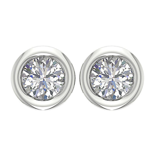 Designer Natural Diamond White Gold Earring-DST45-0.75CT