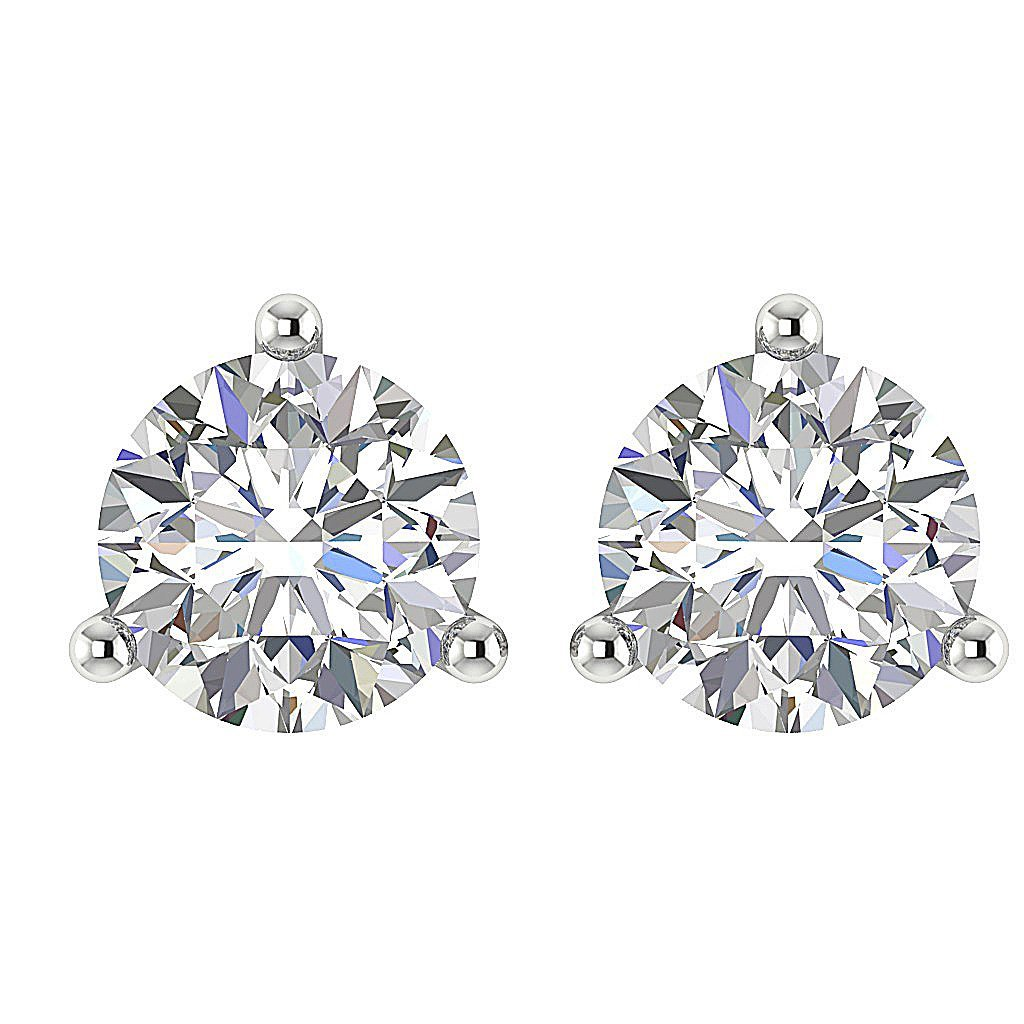 Diamond White Gold Earring-DST53