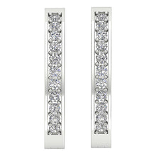 Load image into Gallery viewer, Diamond White Gold Earring-E-254