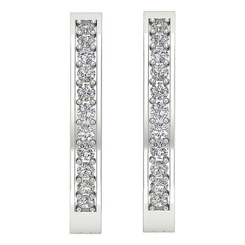 Diamond White Gold Earring-E-254