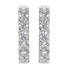 Load image into Gallery viewer, White Gold Earring-E-404A