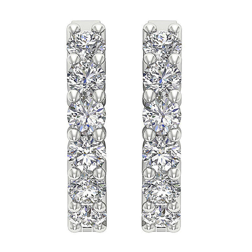 White Gold Earring-E-404A