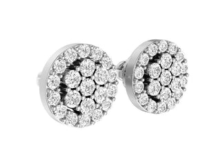 White Gold Earring-E-433