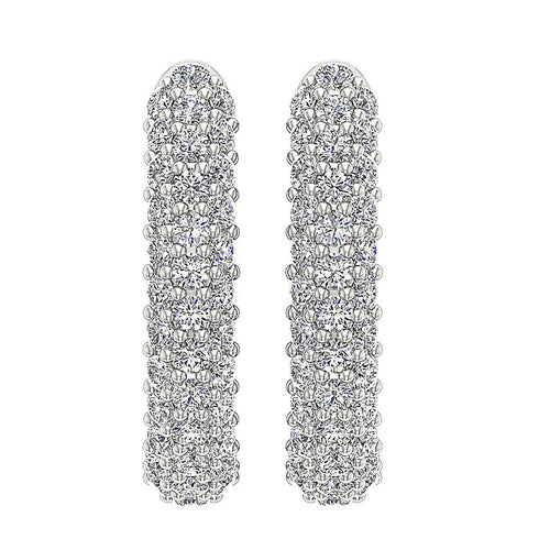Front View White Gold Earring-E-546