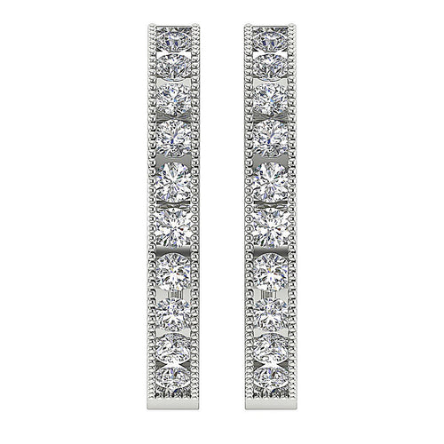 White Gold Earring-E-573B