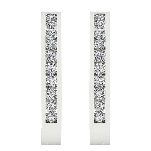 Designer Natural Diamond Earring-E-573