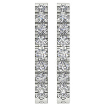 Load image into Gallery viewer, Top View Natural Diamond White Gold Earring-E-576