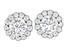 Load image into Gallery viewer, Natural Diamond White Gold Stud Earring-E-708