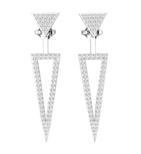 Load image into Gallery viewer, White Gold Round Cut Diamond Earring-E-780-1