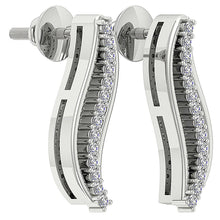 Load image into Gallery viewer, Designer Natural Diamond White Gold Fashion Earring-DE179